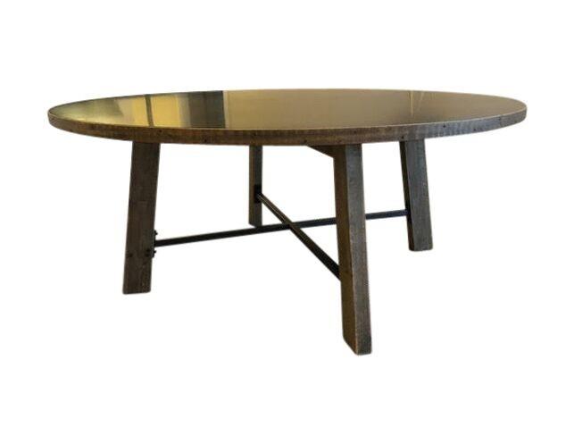 Restoration Hardware ZincTop Railway Trestle Dining Table The - Restoration hardware zinc table