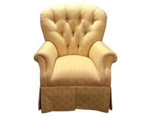 Century Furniture Yellow Tufted Armchair