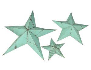 Large Decorative Metal Stars, Set of 3
