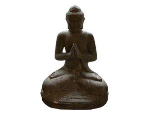 Stone Sitting Buddha Sculpture