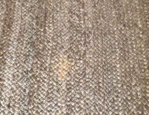 12 x 15 Chunky Braided Jute Rug with Neutral Trim