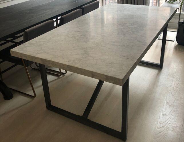 Restoration Hardware 72 Torano Marble Rectangular Dining Table The Local Vault