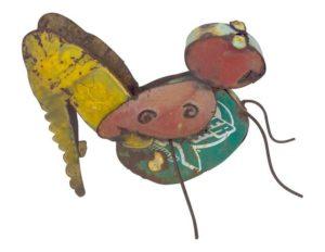 Handmade Tin Cricket Garden Statue