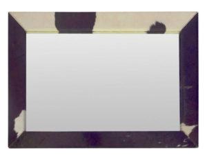 Large Scale Mariana Antinori Pony Hair Framed Mirror