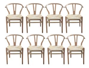 Wishbone Dining Chairs, Set of 8