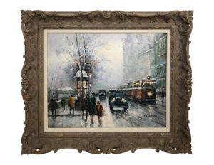 Johnny Gaston Parisian Boulevard Impressionist Painting