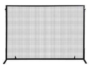 Steel Black Single Panel Fire Screen