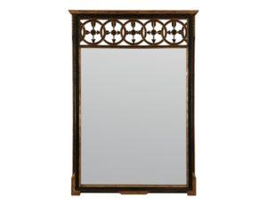 Vintage W. & J. Sloane Black & Gilded Mirror