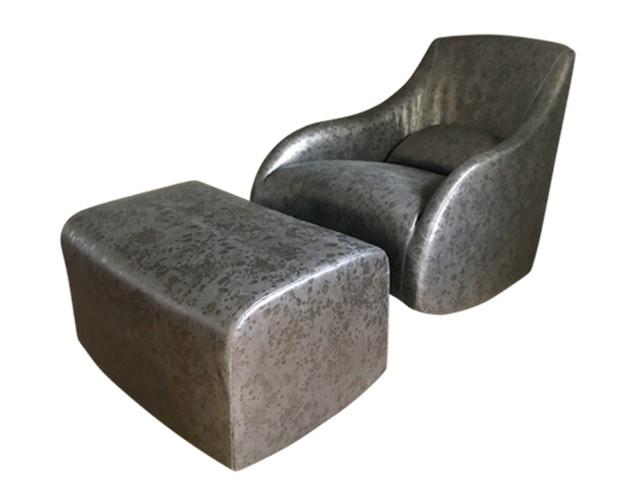 Brilliant Custom Rocking Chair And Ottoman In Dessin Fournir Medea Leather Short Links Chair Design For Home Short Linksinfo