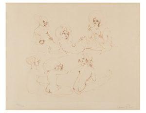 "Argentinian-Italian artist Leonor Fini Etching ""Etudes des Femmes"""