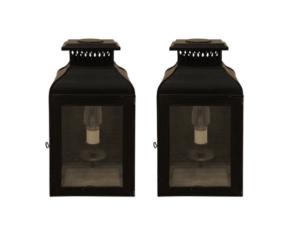 Charles Edwards Small French Wall Lanterns, Pair