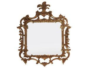 Antique Acanthus Leaf Chippendale Gold Gilt Mirror