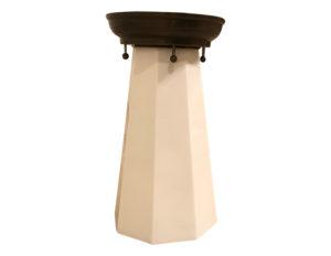 Milk Glass Flushmount Light, 4 Available