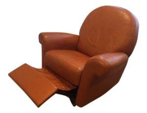Bloomingdales Vintage Style Leather Recliner