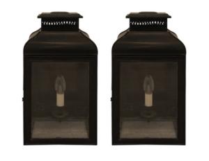 Charles Edwards Large French Wall Lanterns, Pair
