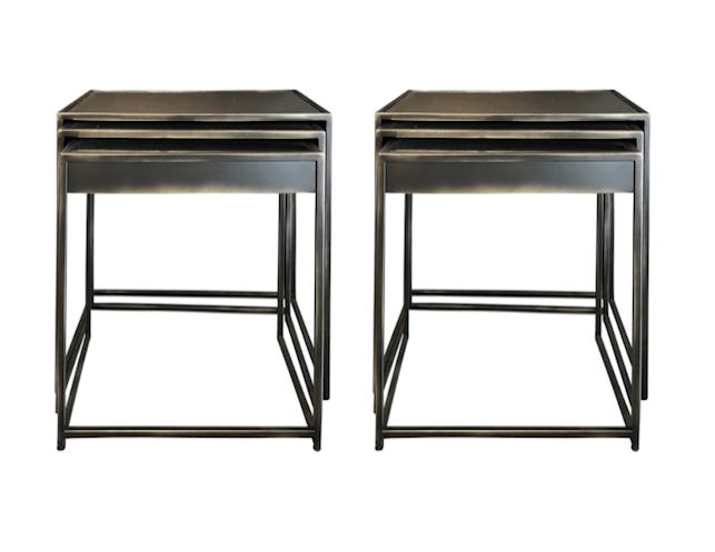 Restoration Hardware Gramercy Mirrored Nesting Side Tables
