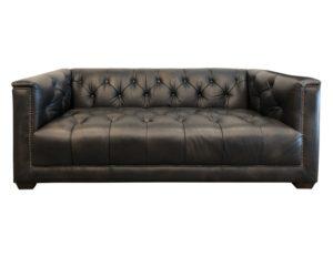 Restoration Hardware 6′ Savoy Tufted Leather Sofa