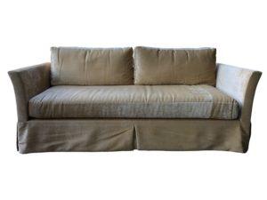 Custom Silk Velvet Single Cushion Sofa