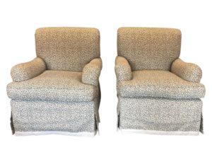 Leopard Print Swivel Chairs