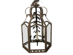 Rustic Scrolling Leaf Lantern