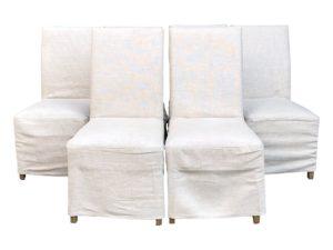 Restoration Hardware Hudson Parsons Slipcovered Chairs, Set of 6
