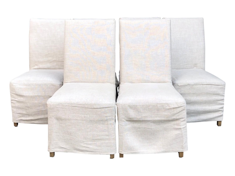 Restoration Hardware Hudson Parsons Slipcovered Chairs