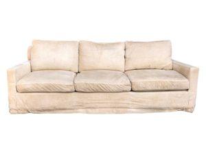 A. Rudin Tan Chenille Sofa