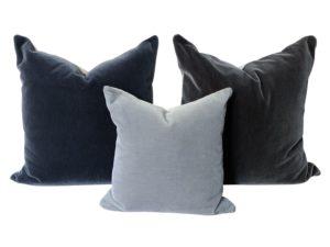 Velvet Pillows, Set of 3
