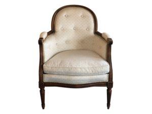 Antique Walnut Barrel Back Bergere Chair
