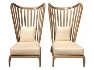 Paul Guzzetta Java Wing Chairs by 4-Orm, Pair