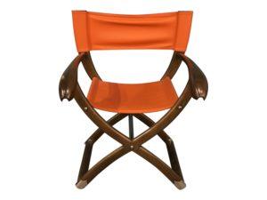 Paul Guzzetta Tawa Chair in Orange Leather