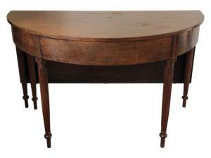 Antique Sheraton Two Part Gateleg Banquet Table