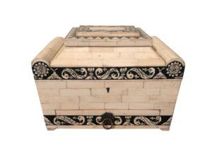 Antique Bone Trinket Box