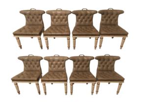 John Rosselli Regency Style Dining Chairs, Set of 8