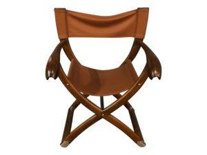 Paul Guzzetta Tawa Chair in Brown Leather