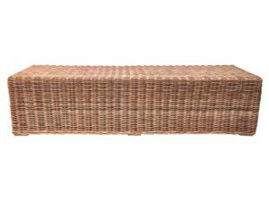Long Rattan Bench
