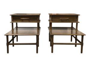 Otaki Side Tables in Flax, Pair