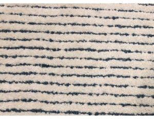 10 x 12 Blue & White Striped Wool Rug