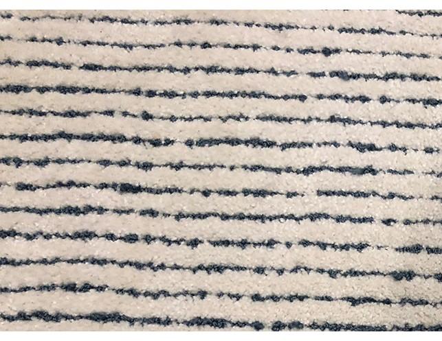 10 X 12 Blue White Striped Wool Rug