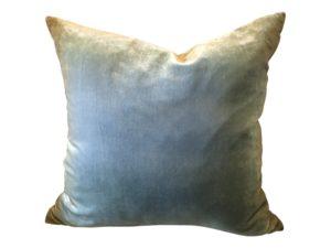 Dransfield and Ross Light Blue Velvet PIllow