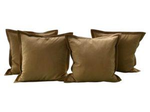 Camel Ultrasuede Pillows, Set of 4