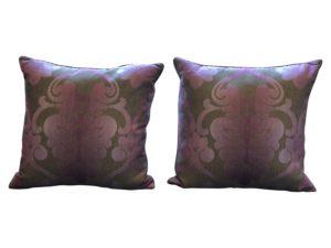 Pink Ryan Studio Damask Pillows, Pair