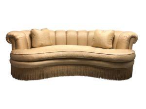 Kidney-Shaped Channel Back Sofa