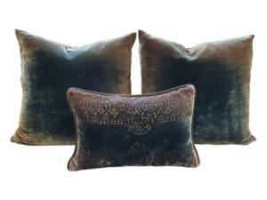 Kevin O'brien Studio Ombre Velvet Pillows, Set of 3