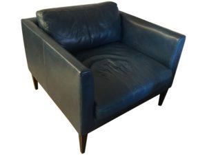 Custom Henley Leather Club Chair