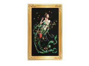 Silk Embroidered Framed Tapestry