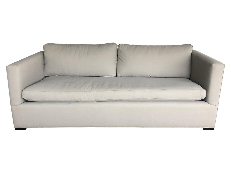 Grey Modern Single Cushion Sofa The