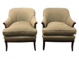 Vintage Armchairs in Sage