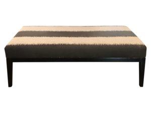 Custom Chenille Upholstered Bench, 2 Available