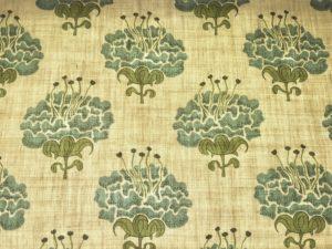 Blue & Green Floral Roman Shade